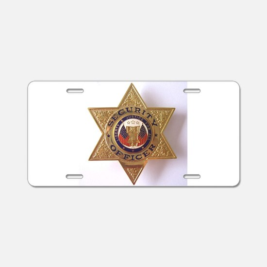 Security7StarBadge.jpg Aluminum License Plate
