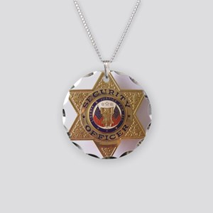 Security7StarBadge Necklace Circle Charm