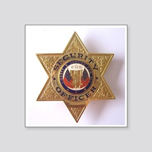 "Security7StarBadge Square Sticker 3"" x 3"""
