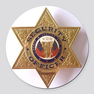 Security7StarBadge Round Car Magnet