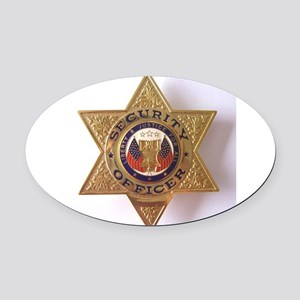 Security7StarBadge Oval Car Magnet