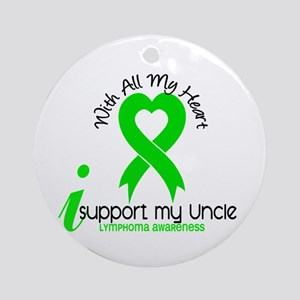 With All My Heart Lymphoma Ornament (Round)