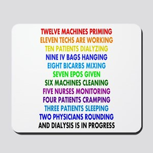 DIALYSIS 12 DAYS OF CHRISTMAS Mousepad
