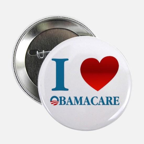 """I Love Obamacare 2.25"""" Button"""