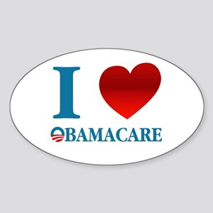 I Love Obamacare Sticker (Oval)