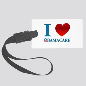 I Love Obamacare Large Luggage Tag