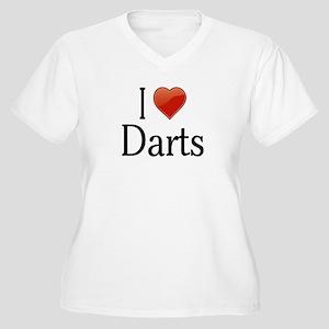I Love Darts Women's Plus Size V-Neck T-Shirt