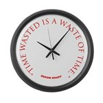 Time Wasted Large Wall Clock