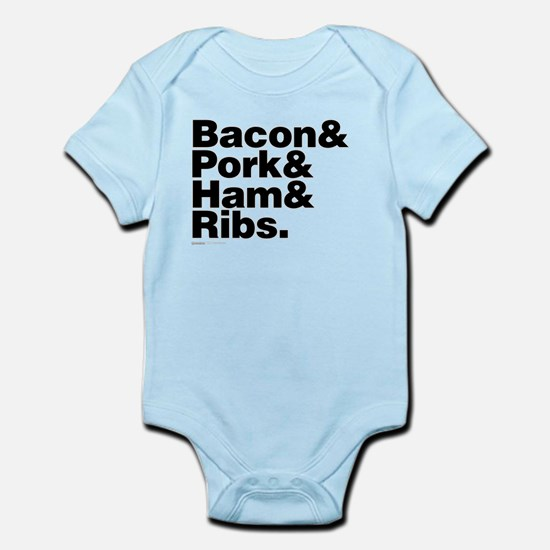 Bacon & Pork & Ham & Ribs Infant Bodysuit