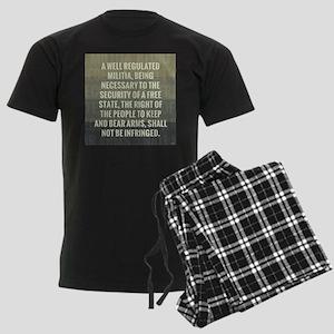 The Second Amendment Men's Dark Pajamas