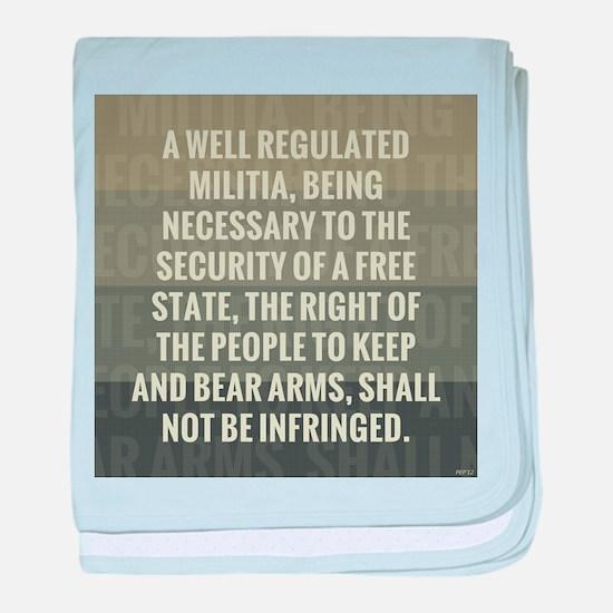 The Second Amendment baby blanket
