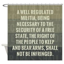 The Second Amendment Shower Curtain