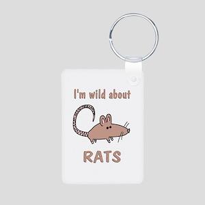 Wild About Rats Aluminum Photo Keychain