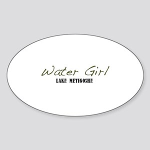 water girl--metigoshe Sticker (Oval)