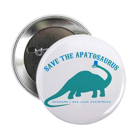 """Save The Apatosaurus 2.25"""" Button (10 pack)"""