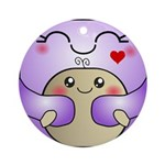 Kawaii Mother and Child Cute Hug Ornament (Round)