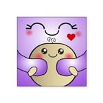 Kawaii Mother and Child Cute Hug Square Sticker 3