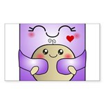 Kawaii Mother and Child Cute Hug Sticker (Rectangl
