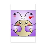 Kawaii Mother and Child Cute Hug Mini Poster Print