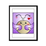 Kawaii Mother and Child Cute Hug Framed Panel Prin