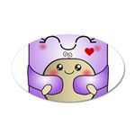 Kawaii Mother and Child Cute Hug 20x12 Oval Wall D