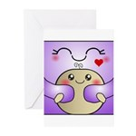 Kawaii Mother and Child Cute Hug Greeting Cards (P