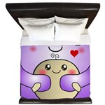 Kawaii Mother and Child Cute Hug King Duvet