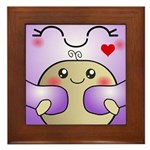 Kawaii Mother and Child Cute Hug Framed Tile