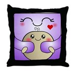 Kawaii Mother and Child Cute Hug Throw Pillow