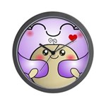 Kawaii Mother and Child Cute Hug Wall Clock