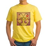 Kawaii Mother and Child Cute Hug Yellow T-Shirt