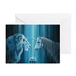 The Lion The Unicorn Greeting Cards (Pk of 20)