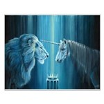 The Lion The Unicorn Small Poster
