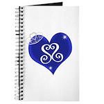 Sapphire Sweetheart Heart Logo Journal
