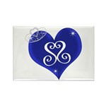 Sapphire Sweetheart Heart Logo Rectangle Magnet (1