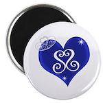 "Sapphire Sweetheart Heart Logo 2.25"" Magnet ("