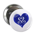 """Sapphire Sweetheart Heart Logo 2.25"""" Button ("""