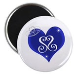 Sapphire Sweetheart Heart Logo Magnet