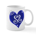Sapphire Sweetheart Heart Logo Mug
