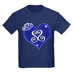 Sapphire Sweetheart Heart Logo Kids Dark T-Shirt