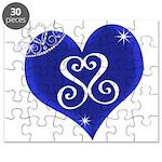 Sapphire Sweetheart Heart Logo Puzzle