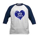 Sapphire Sweetheart Heart Logo Kids Baseball Jerse