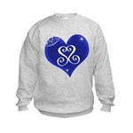 Sapphire Sweetheart Heart Logo Kids Sweatshirt