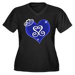 Sapphire Sweetheart Heart Logo Women's Plus Size V