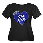 Sapphire Sweetheart Heart Logo Women's Plus Size S