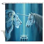 The Lion The Unicorn Shower Curtain