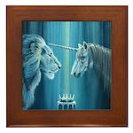 The Lion The Unicorn Framed Tile