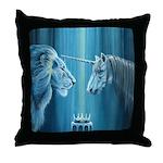 The Lion The Unicorn Throw Pillow