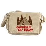 Camping Is In-Tents Messenger Bag