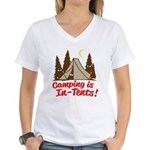 Camping Is In-Tents Women's V-Neck T-Shirt